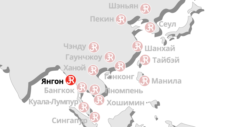 Rieckermann Local Map - Yangon