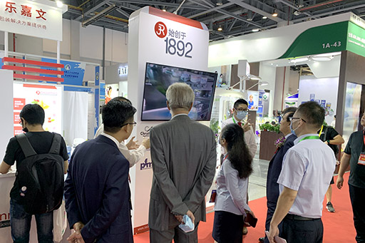 Mr. Song, Chairman of the China National Committee of International Dairy Federation visiting the Rieckermann booth